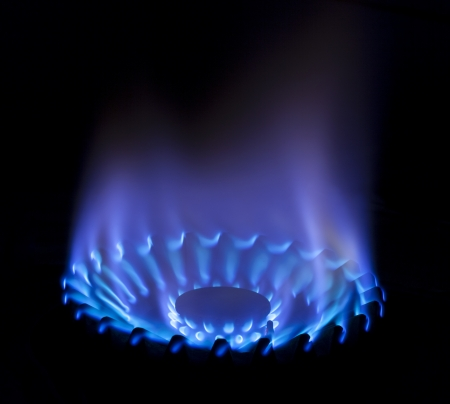 blue flame: gas flame