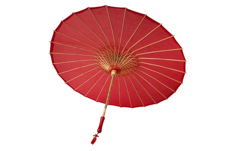 parasols: Chinese traditional red umbrella