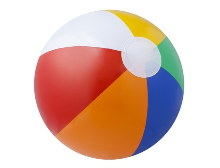 play ball: Beach ball isolated on white background