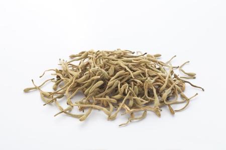 honeysuckle: dried honeysuckle flowers Stock Photo