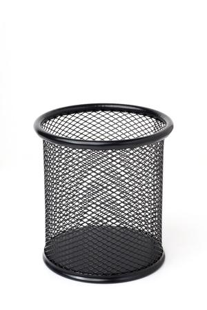 wastebasket: Empty wastebasket Stock Photo