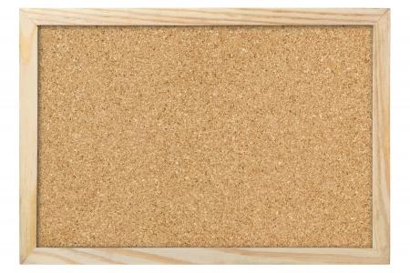 bulletin board: blank corkboard
