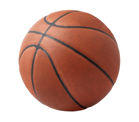 Basketball isolated on a white background 스톡 콘텐츠