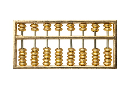 golden abacus photo