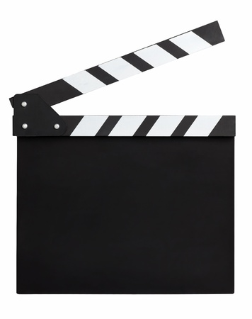 clapper: blank movie clapperboard Stock Photo