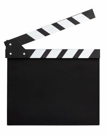 clapper board: blank movie clapperboard Stock Photo