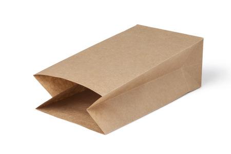white paper bag: brown paper bag