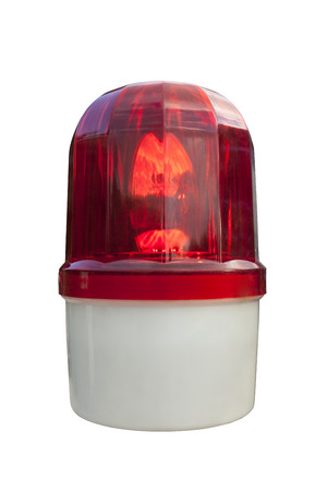 Red emergency light photo
