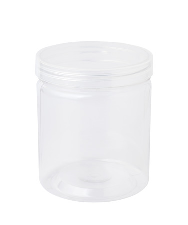 plastic box: Empty plastic jar