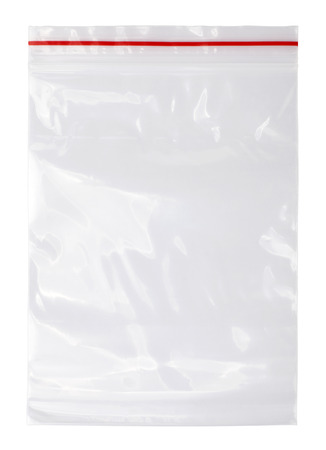 Plastic zipper bag 写真素材