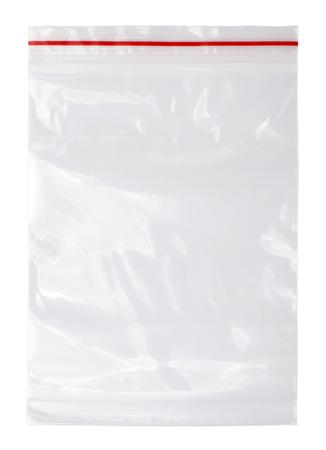 envases plasticos: Cremallera bolsa de pl�stico Foto de archivo