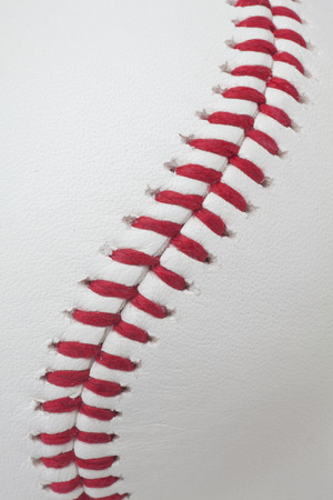 stitching: baseball detail Stock Photo