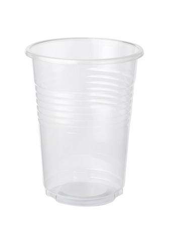 Empty plastic cup