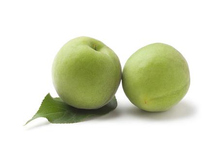green plum Stockfoto
