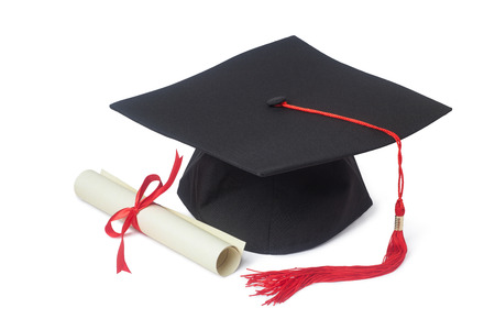 Graduation cap and diploma Stok Fotoğraf - 31379452