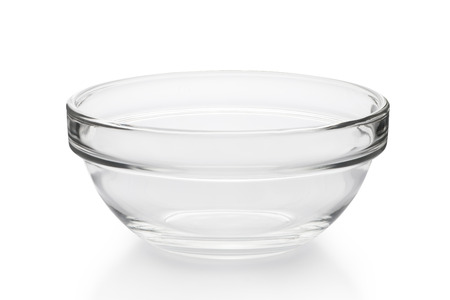 crystal bowl: empty bowl isolated on white