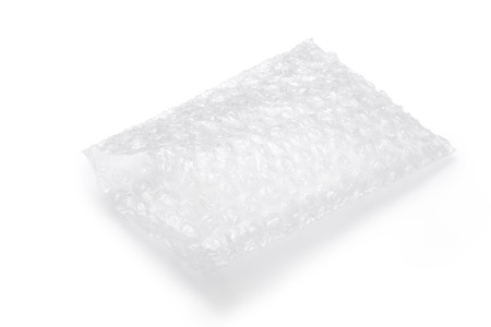 Air cushion bag of packaging isolated on white Standard-Bild