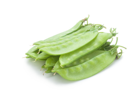 snap: snow peas isolated on white background