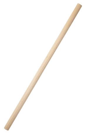 Wooden stick isolated on white Archivio Fotografico
