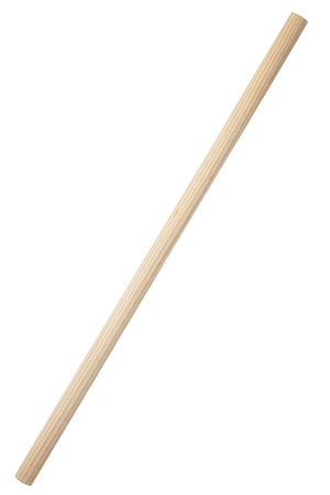 Wooden stick isolated on white Фото со стока