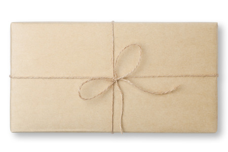 parcel wrapped packaged box photo