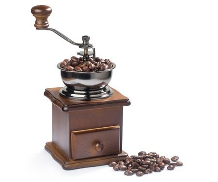 Vintage Kaffeemühle mit Kaffeebohnen