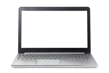 laptop: Laptop isolated on white background