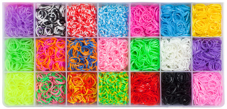 rubberband: Colored rubber bands Stock Photo