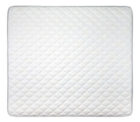 Comfortabele matras op een witte achtergrond Stockfoto