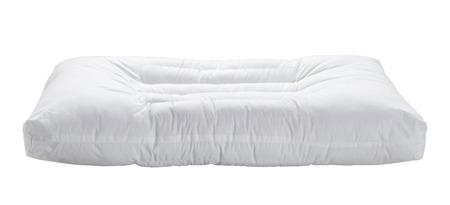 tela algodon: Almohada blanca aislada en el fondo blanco