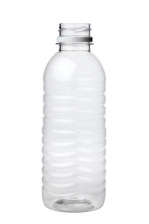 Empty plastic bottle isolated on white background Фото со стока