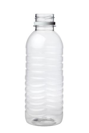 Lege plastic fles geïsoleerd op witte achtergrond