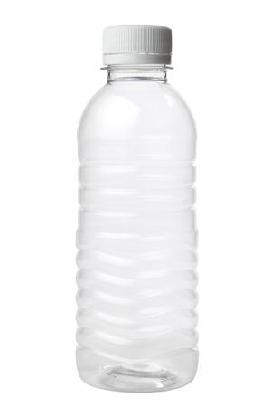 Empty plastic bottle isolated on white background 스톡 콘텐츠