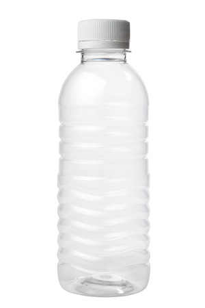 Empty plastic bottle isolated on white background Zdjęcie Seryjne