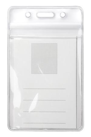 identity card: Blank badge isolated on white background