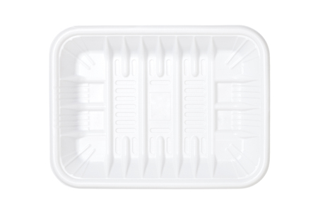 food tray: Empty plastic tray isolated on white background