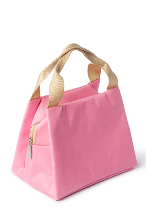 fabric bag: pink handbag Stock Photo
