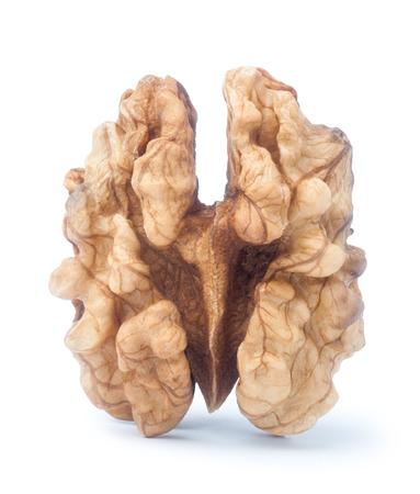 kernel: Walnut kernel isolated on white