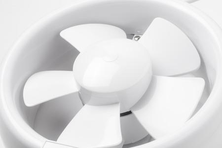 Plastic exhaust fan, Close-up.