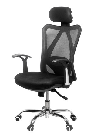 mesh: Black office chair isolated on white background