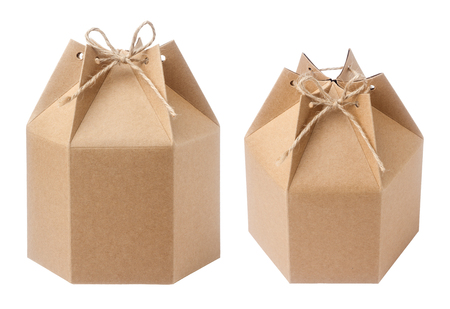 Brown verpakking kartonnen doos Stockfoto