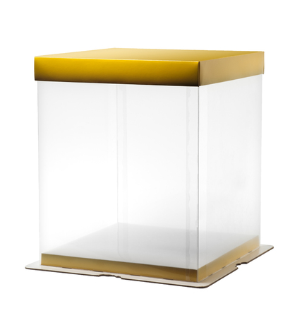 plastic box: Transparent plastic box isolated on white background