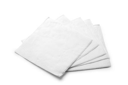servilleta de papel: servilleta aislado en el fondo blanco
