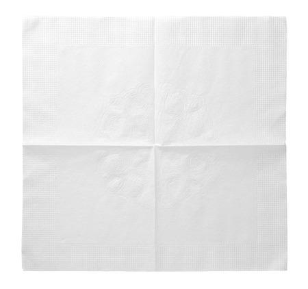 serviette: servilleta aislado en el fondo blanco