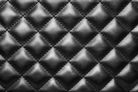 Black leather texture background, Close-up.