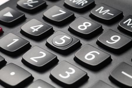 teclado numérico: Close-up of a computer numeric keypad Foto de archivo