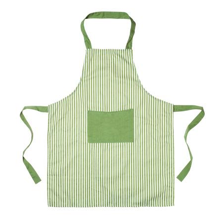 Kitchen apron isolated on white 스톡 콘텐츠