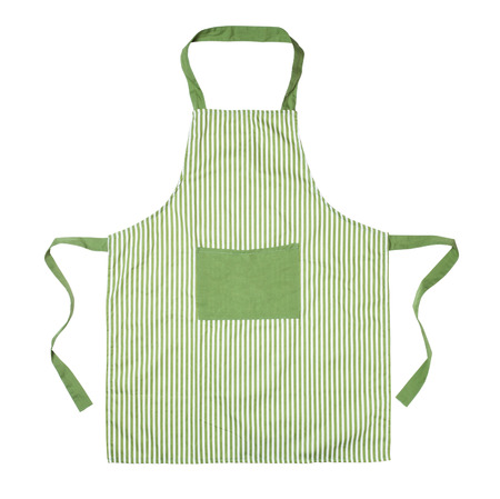 Kitchen apron isolated on white Standard-Bild