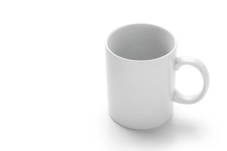 white: Empty white mug isolated on white background