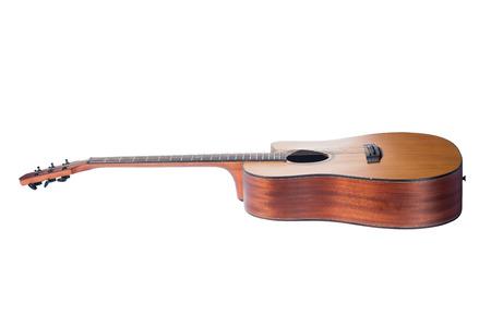 acoustic guitar isolated on white background Zdjęcie Seryjne - 96383814